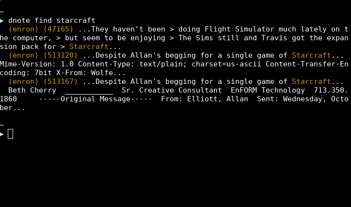 a terminal demonstrating the find command